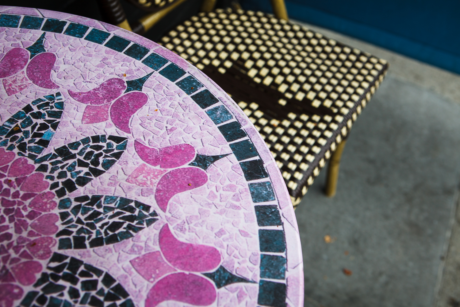 Colorful table and chair