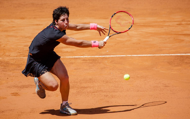 Maria Sharapova defeated Carla Suárez Navarro 4-6, 7-5, 6-1