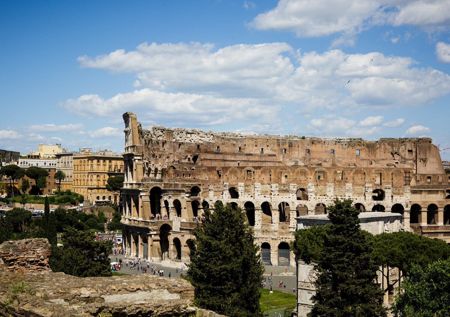 Colosseum as seen from Palatine Hill